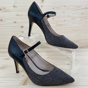 Louise et Cie Mixed Media Tweed Pointy Toe Pumps